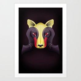 Cougar Swan Art Print
