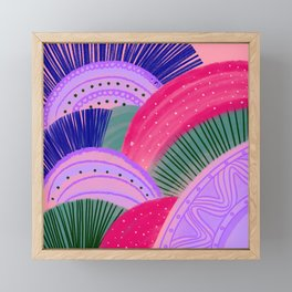 Curves Pink Framed Mini Art Print