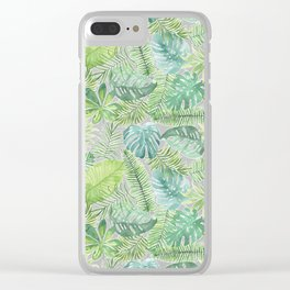 Tropical Branches Pattern 08 Clear iPhone Case