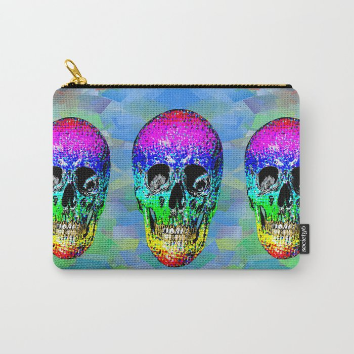 Skull disco rainbow Carry-All Pouch