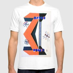 Tick Tac Toe MEDIUM White Mens Fitted Tee