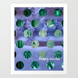 happy winter Art Print