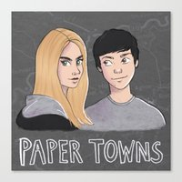 paper towns Canvas Prints featuring Paper Towns by Joan Pons