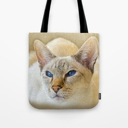 SIAMESE CAT LOVE Tote Bag