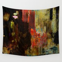acid Wall Tapestries featuring Acid rain by Joe Ganech