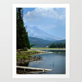 The Blue Cascade Lakes Art Print