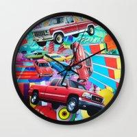 cars Wall Clocks featuring Cars by John Turck