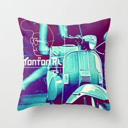 scooter white tonton AL Throw Pillow