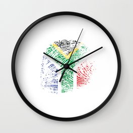It's In My Dna South Africa Flag Vintage African Gift Wall Clock