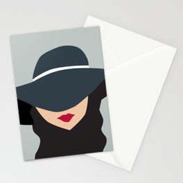 LADY IN A HAT Stationery Cards