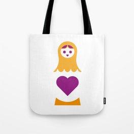 Matrioska in purple Tote Bag