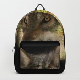 Wolf in the Forrest Backpack