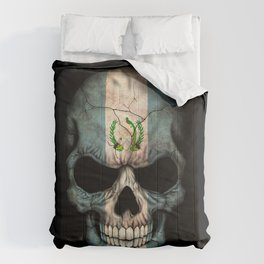 Dark Skull with Flag of Guatemala Comforters