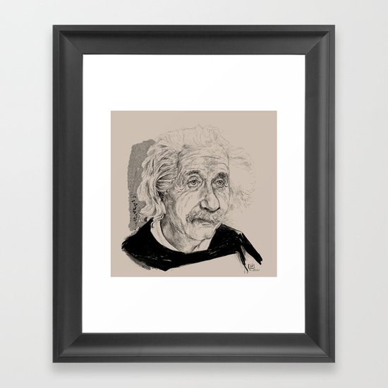 Albert Einstein (scientist) Framed Art Print