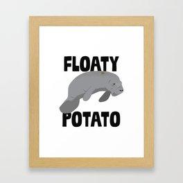 Floaty Potato Framed Art Print