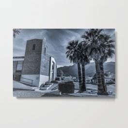 Small Town Church Metal Print