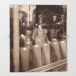 Eugène Atget - Avenue des Gobelins Throw Blanket