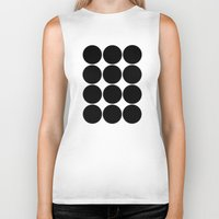large Biker Tanks featuring Large Circles by Emily Kenney