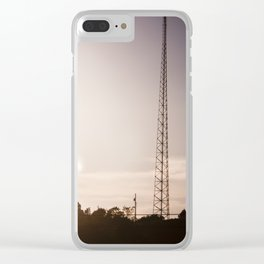 Post Purple Clear iPhone Case