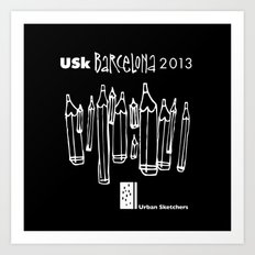 Urban Sketchers USk BCN 2013 Art Print