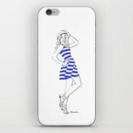 Blue dress iPhone Skin
