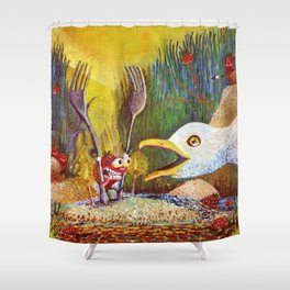 Cedarburb Strawberry Shower Curtain
