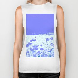 Ink Drop Blue Biker Tank