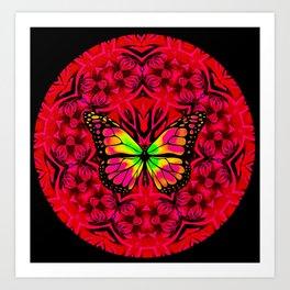 Dynamic Circular Butterfly Graphic Art Print