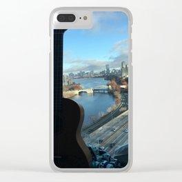Boston Ukulele Clear iPhone Case