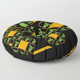 Orange and Green Spaces 100 Floor Pillow