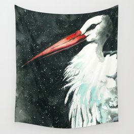 Early stork Wall Tapestry