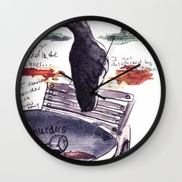 Tuileries Crow Wall Clock