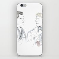 bucky barnes iPhone & iPod Skins featuring Steve & Bucky by Christine Ring
