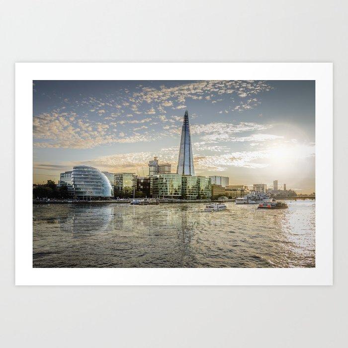 London waterfront Art Print