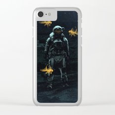 Space goldfish Clear iPhone Case