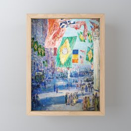 Frederick Childe Hassam - Avenue Of The Allies Brazil Belgium - Digital Remastered Edition Framed Mini Art Print