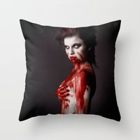 sin city Throw Pillows featuring Sin City 10 by Kobaru