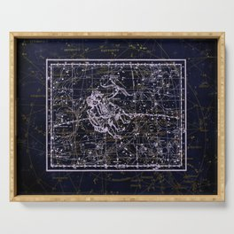 Gemini, Constellation map, Zodiac, Sign sky, Stars, Universe, astrology, astrological, signs, birth Serving Tray