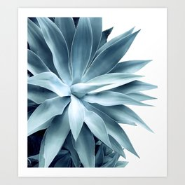 Bursting into life - teal Art Print