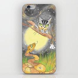 Cat meets Copperhead iPhone Skin