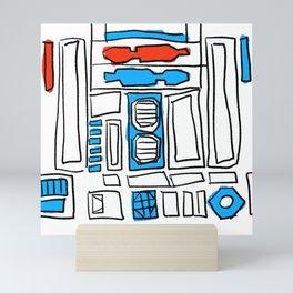 Robot shapes Mini Art Print