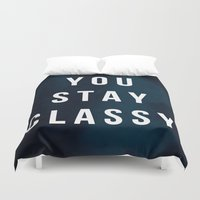 classy Duvet Covers featuring CLASSY by Chrisb Marquez
