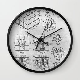 Rubik cube Wall Clock