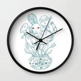 Bouquet of masks Wall Clock