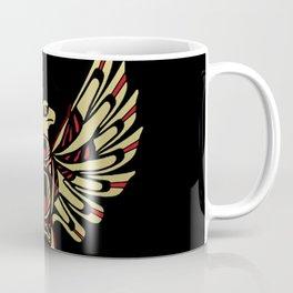 Tribal Black and Gold Eagle Digital Design Coffee Mug