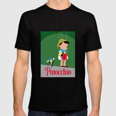 Pinocchio MEDIUM Black Mens Fitted Tee