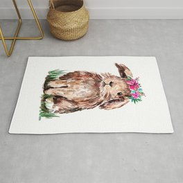 Bunny with Flower Crown Rug