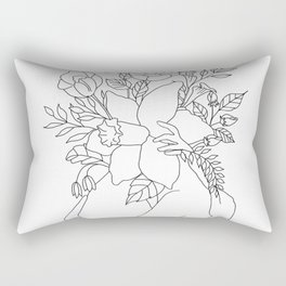 Blossom Hug Rectangular Pillow