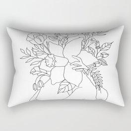 Blossom Hug Rechteckiges Kissen