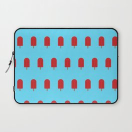 Red Popsicles - Blue Background Laptop Sleeve